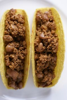 Costco Plan #1 Bean and Beef Tacos -Stretching the Protein in your Dinner   Beef and Bean Tacos