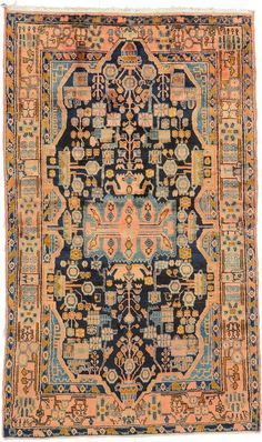Butterflies in my stomach...  Navy Blue 4' 8 x 7' 10 Nahavand Rug | Persian Rugs | eSaleRugs