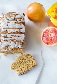 Whole Grain Grapefruit Cake with Olive Oil and Greek Yogurt - a simple baked recipe with wholesome ingredients that can be enjoyed for brunch or dessert!