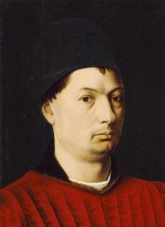 Holland, circa 1465; Portrait of a Man Petrus Christus (Holland, 1410-1472); LACMA collections
