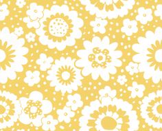 Layla Faye Mod Meadows Buttercup Yellow Wallpaper main image