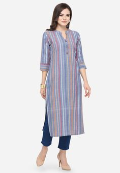 Description: It has 1 Piece of Kurti Fabric : south Cotton Size : Sleeves : Sleeve Type:-Stitched New Kurti Designs, Simple Kurti Designs, Kurta Designs Women, Kurti Designs Party Wear, Dress Neck Designs, Blouse Designs, Long Kurti With Jeans, Kurta Patterns, Baby Girl Dress Patterns