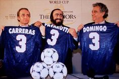 The Three Tenors with World Cup soccer jerseys