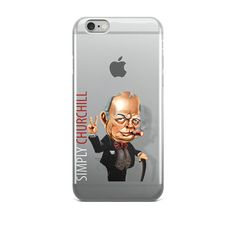 Simply Churchill iPhone Case by simplycharly. Explore more products on http://simplycharly.etsy.com