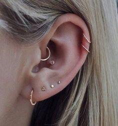 Helix Earrings Hoop, Conch Earring, Dangly Earrings, Small Earrings, Cartilage Earrings, Stone Earrings, Piercings For Men, Ear Piercings, Natural Everyday Makeup