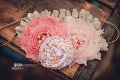 Coral headband for baby girl