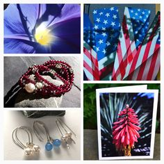 Red, white & blues! Jewelry, bookmarks, cardsHandmade in Wisconsin, USA #etsymntt #gift #jewelry #cards #booklover