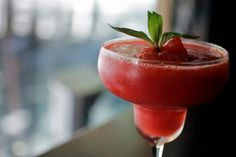 Daiquiri History - No More Gin For Gimlets? Pour Some Rum On It Named for a small Cuban village east of Santiago, the Daiquiri cocktail is said to have been invented by a mining engineer from the. Strawberry Daiquiri Recipe, Frozen Strawberry Recipes, Frozen Strawberries, Frozen Daiquiri, Daiquiri Cocktail, Frozen Drinks, Baileys Irish Cream, Classic Cocktails, Food Art