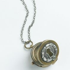 Keyhole Compass necklace