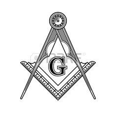 Logo Maçonnique Franc-Maçonnerie Emblème Icône. Vector Illustration Clip Art Libres De Droits , Vecteurs Et Illustration. Image 45358554.
