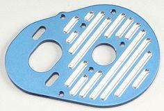 ASC1770 - Milled Motor Plate Blue B4/T4. Milled Motor Plate Blue B4/T4