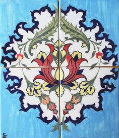 Handmade ceramic tiles Ceramic wall art Persian by SarasGardenAu