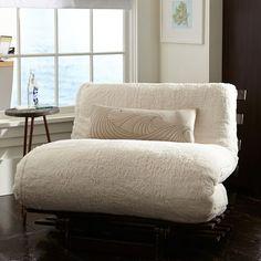 Sherpa Faux Fur Fleece Futon   PBteen