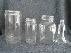 4 Old Jars for Flower Arrangements Etc by hungrycats on Etsy, $3.00