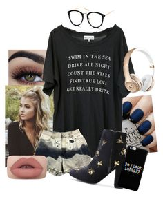 """Untitled #447"" by broken-beyond-repair ❤ liked on Polyvore featuring OPI and Wildfox"