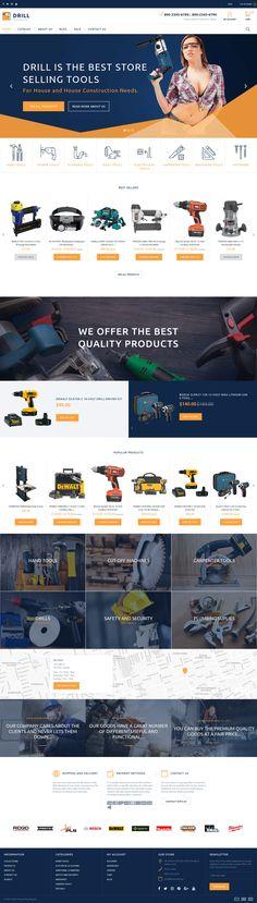 Tools & Equipment Responsive Shopify Theme #63668