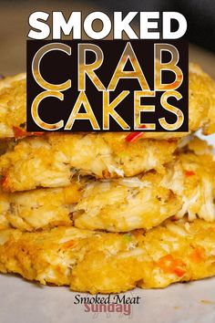 Crab Cakes Traditionally theyre fried but we think everything tastes better with a little woodfired kiss So were gonna smoke em If youre looking for a simple seafood appe. Seafood Appetizers, Seafood Dishes, Appetizers For A Crowd, Seafood Recipes, Appetizer Recipes, Seafood Bbq, Dinner Recipes, Traeger Recipes, Grilling Recipes
