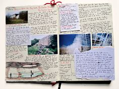 """littlemissnoface: """"A spread from my old architecture journal. Seeing this with fresh eyes has really inspired me, I am so many different things and creativity comes in many forms - unstructured and structured. I really love the mixture of personal. Journal Diary, My Journal, Journal Prompts, Journal Notebook, Art Journal Pages, Notebook Ideas, Architecture Journal, Concept Architecture, Diary Writing"""