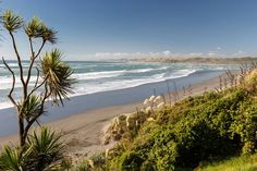 Looking for the perfect waves to learn surfing? Look no further than Ngarunui Beach in Raglan, New Zealand.