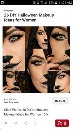 Cat Halloween Makeup - Click Pic for 26 DIY Halloween Makeup Ideas for Women Cat Halloween Makeup, Maquillaje Halloween, Halloween Cosplay, Halloween Costumes, Cat Costumes, Costume Ideas, Fete Halloween, Halloween Inspo, Halloween Looks