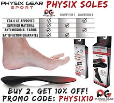 Physix Gear Sport Full Length Orthotic Inserts with Arch Support Best Shock Absorption and Cushioning Insoles for Plantar Fasciitis Running Flat Feet Heel Spurs and Foot Pain Men and Women S *** Check out this great product-affiliate link. Running With Plantar Fasciitis, Chronic Fatigue Syndrome, Chronic Illness, Costochondritis, Cervical Spondylosis, Cluster Headaches, Sore Feet, Flat Feet, Chiropractic Care