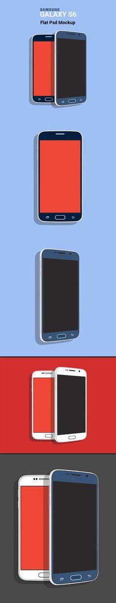 Freebie: Samsung Galaxy S6 Flat PSD Mockup on Behance