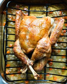Learn how to brine a turkey using wet and dry methods, and get a recipe for a dry brine herbed salt.