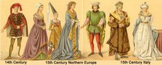 14th and 15th century fashion