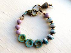 Ombre  handmade bracelet bead bracelet blue bracelet by songbead, £28.00