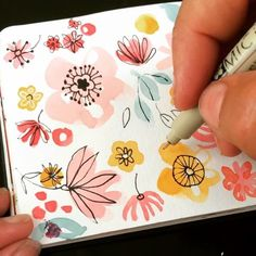 Easy watercolor flower