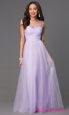 Floor Length Sleeveless Prom Dress at PromGirl.com