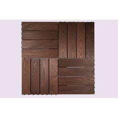 "Thermory USA Interlocking Mosaic Quick Deck 8"" x 32"" Thermo-Treated Ash (Set of 5)"