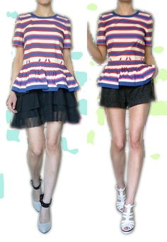 MMJ stipes w/ lanvin or YSL. drop waist or sporty?