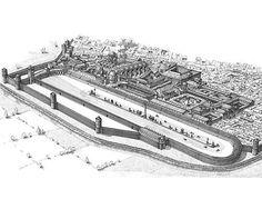 Ricostruzione del circo e del palazzo imperiale.