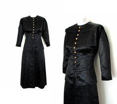 Vintage 1930s Suit / 30s Dress Suit Black / by Vintagephilosophy, $164.00