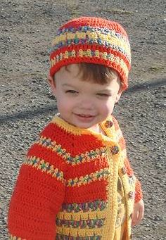 cute toddler sweater and matching hat - free pattern