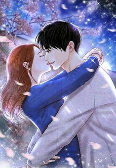 Anime Couple Kiss, Anime Couples Manga, Manga Anime, Couple Cartoon, Cartoon Pics, Cute Cartoon Wallpapers, Anime Love Story, Romantic Anime Couples, Cute Anime Coupes