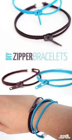 Make these fun zipper bracelets, DIY and Crafts, Make this adorable DIY zipper bracelet to wear or to gift! An amazing beginner sewing and jewelry making craft for teens and tweens! Zipper Bracelet, Zipper Jewelry, Diy Bracelet, Bullet Jewelry, Gemstone Bracelets, Wire Jewelry, Jewelry Crafts, Jewelry Ideas, Jewelry Necklaces