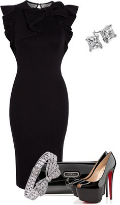 """My sister has to attend a black tie event"" by pollydickson on Polyvore"
