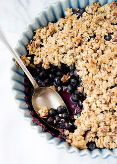 Gluten Free Blueberry Crisp - the recipe calls for 1 cup old fashioned oats but make sure you are using gluten free oats!