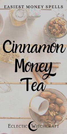 Prosperity Spell: Simple Cinnamon Money Tea - Eclectic Witchcraft This cinnamon money tea is a simple money spell that works fast! Use easy money spell magic to make your online business more profitable, draw wealth to you, and fill up your ba Powerful Money Spells, Money Spells That Work, Real Love Spells, Spells That Really Work, Luck Spells, Magic Spells, Witchcraft Spells, Wiccan, Magick