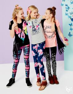 Printed leggings are our thing! Our designers spend months perfecting each and every print in the Justice style studio!