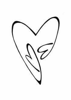 double heart tattoos with initial - Google Search
