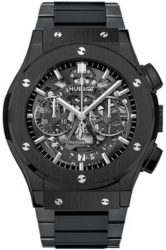 Hublot Classic Fusion Aero Chronograph Black Magic Mens Watch * You can find out more details at the link of the image. (This is an affiliate link) Hublot Classic Fusion, Audemars Piguet Watches, Hublot Watches, Women's Watches, Wrist Watches, Fashion Watches, Cool Watches, Rose Gold, Style