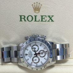 The Rolex Daytona #Preowned at a great price http://www.globalwatchshop.co.uk/rolex-daytona-stainless-steel-116520-white-dial-485.html?utm_content=buffer82284&utm_medium=social&utm_source=pinterest.com&utm_campaign=buffer Click, be quick