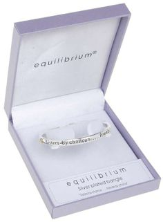 sisters by chance, friends by choice silver plated message bangle