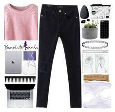 """#409 Beautiful day (Beautifulhalo 10)"" by mia5056 ❤ liked on Polyvore featuring GHD, Christian Dior, CB2, Monki, NIKE, Casetify, Rough Fusion, Topshop, River Island and bhalo"