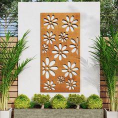 Metal Garden Screens, Garden Privacy Screen, My Builder, Garden Screening, Modular Walls, Decorative Screens, Ral Colours, Elements Of Style, Contemporary Garden
