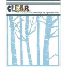 Clear Scraps Stencil 6 x 6 Forest