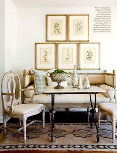 via Cote de Texas.does a room get any prettier? Decor, Neutral Christmas Decor, Decorating Your Home, Family Room, Swedish Interiors, Interior Design, Home Decor, Swedish Decor, Gustavian Furniture